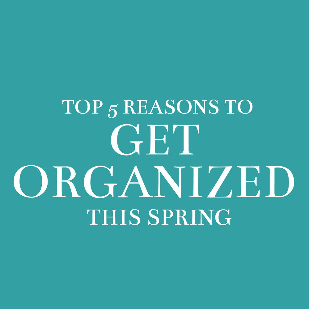 Top 5 Reasons to Get Organized This Spring