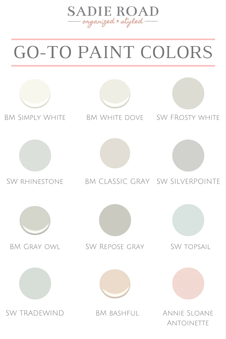Paint Colors Sadie Road
