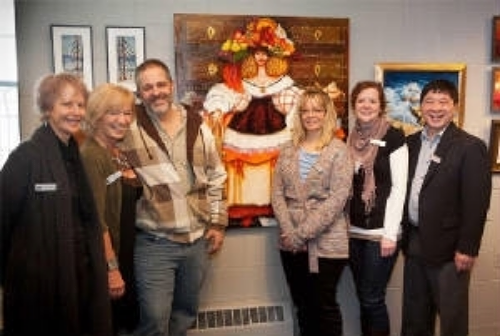 There was a great turnout at the reception for the new members of the Kanata Civic Art Gallery!