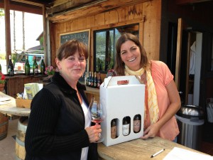 Celeste Gantz with tasting room manager Lisa Macek