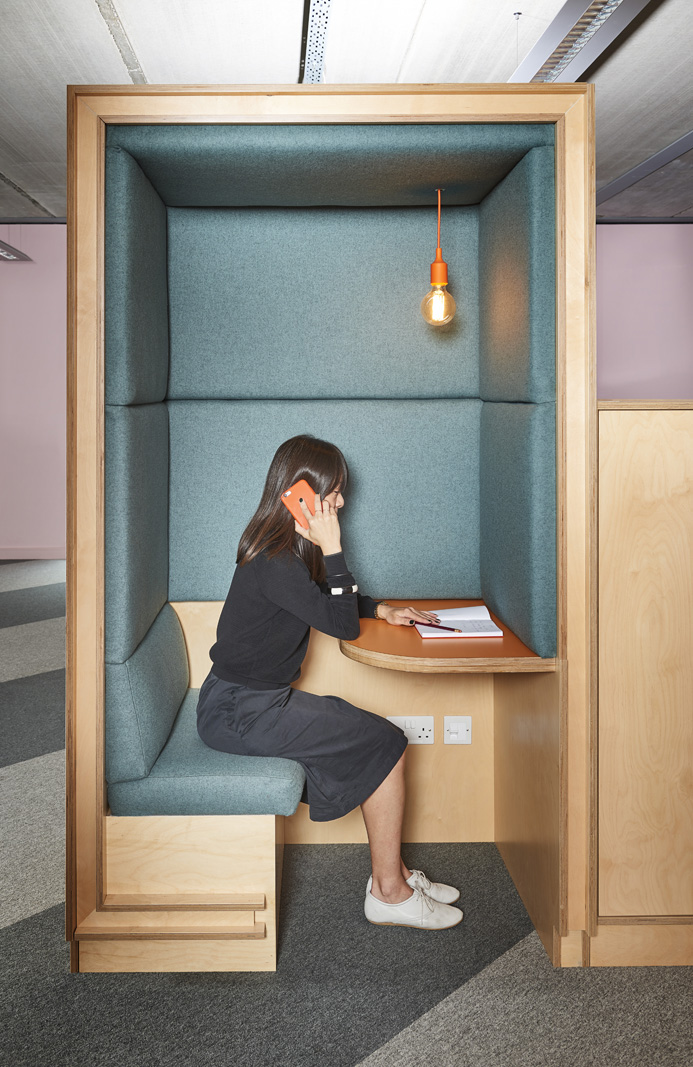 Acoustically attenuated phone booth