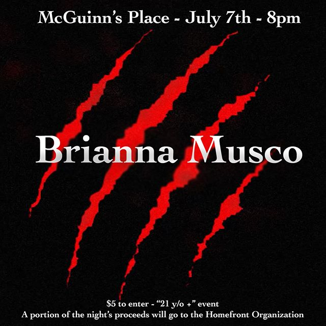 And then on the second day, Frosty posted about another talented artist who will be featured on #frostfest4 this upcoming Saturday at McGuinn's Place! Be sure to check out #BriannaMusco! @briannamusco @mcguinnsplace #frostedgreenproductions #supportlocalmusic #livemusic #newjersey