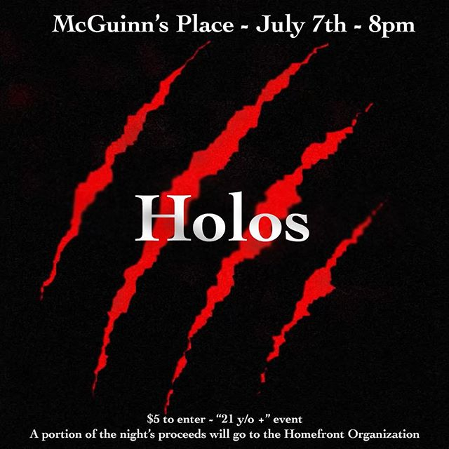 Hope everyone had an awesome fourth celebration! The party shouldn't stop though, come on out to McGuinn's Place this Saturday to see Holos, along four other talented acts!  The party don't start until ya'll walk in, so you best not be late! #Holos #frostedgreenproductions #mcguinnsplace #frostfest4 #newjersey