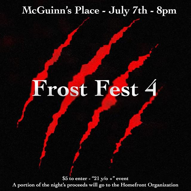 Another Frost Fest is upon us. Tonight we shall dine, drink, and perform like no one has before! So grab your chalice, head over to McGuinns Place, donate to a good cause, and rock out to some of the best that local music have to offer! #frostedgreenproductions #findingfeebas #holos #drewbarutie #briannamusco @barutie @briannamusco @findingfeebas @holosmusic @greygoesblack @mcguinnsplace @ssova213