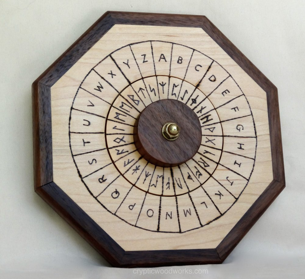 Cipher Wheel - Runic - Maple - Front 3.jpg