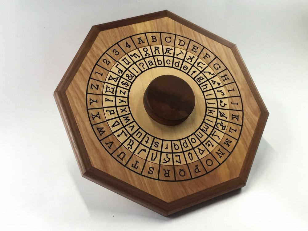 Cipher Wheel - Constellation - Maple - Angled.jpg