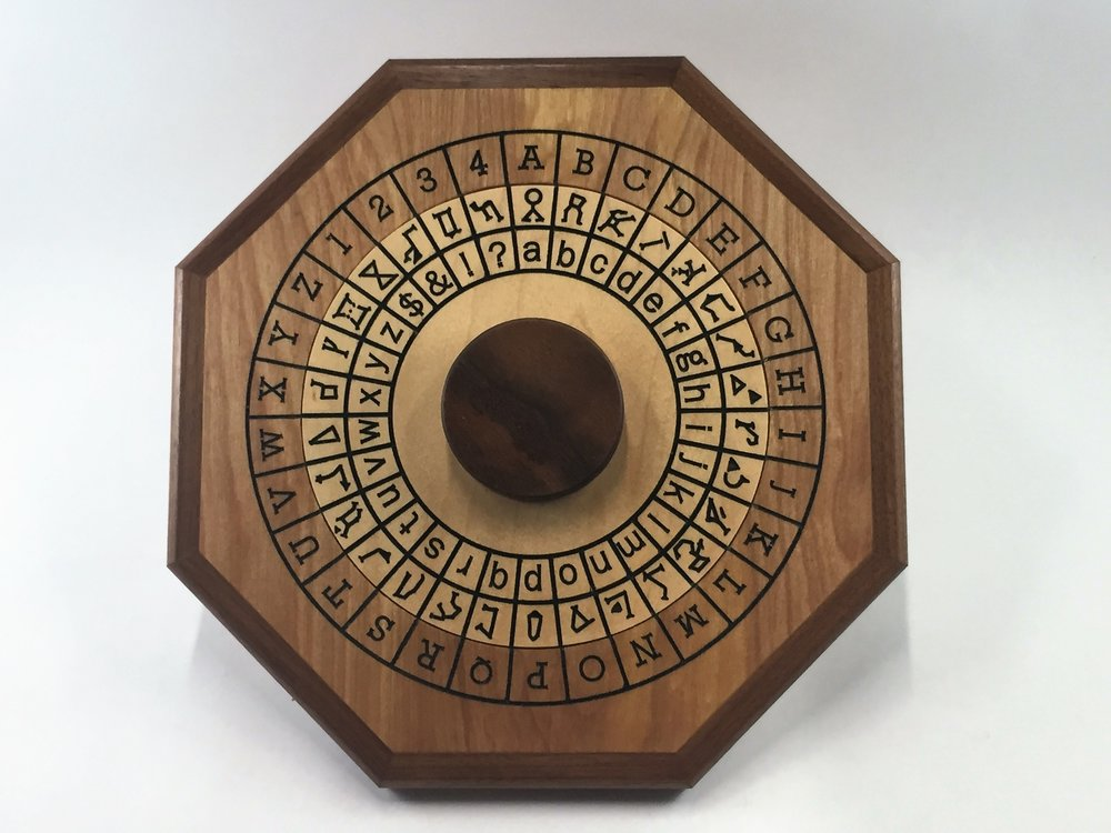 Cipher Wheel - Constellation - Maple - Front.jpg