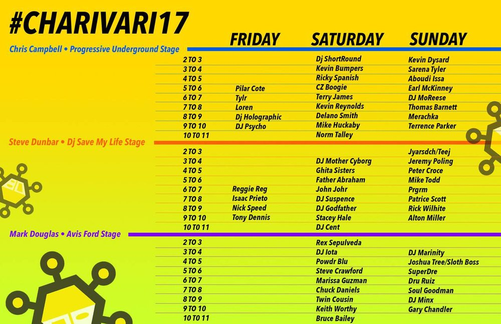 The line-up for Charivari 2017