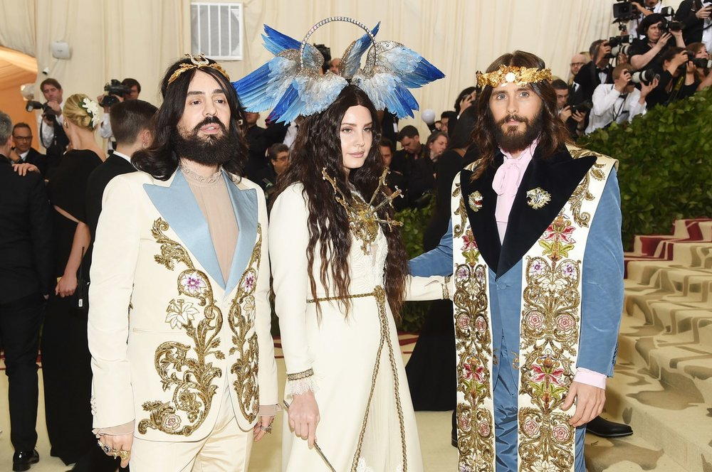 Alessandro Michele, Lana Del Rey, and Jared Leto in Gucci