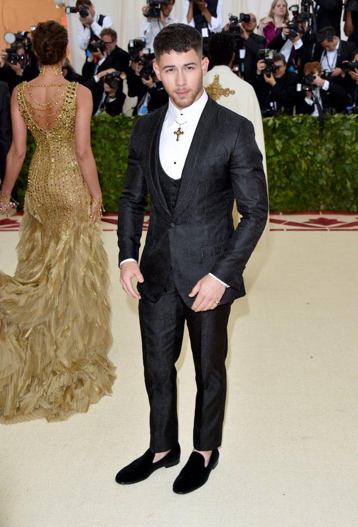 Nick Jonas in  Dolce & Gabbana