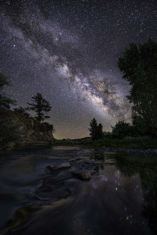Milky Way Over the Glia River