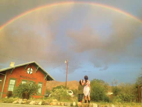 Rainbow Over Magdalena Library, Jessica Carranza