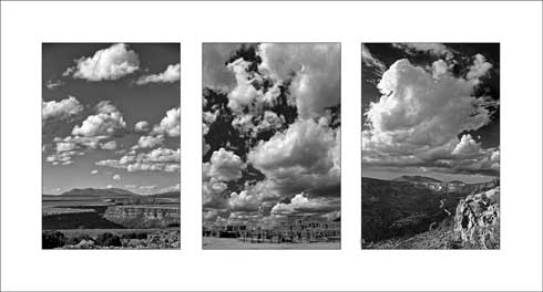 Taos County Triptych, John Concetta Blordl