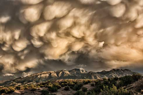 Grand Prize Winner, NM Magazine 'Fall Storm in the Sandia Mountains'.