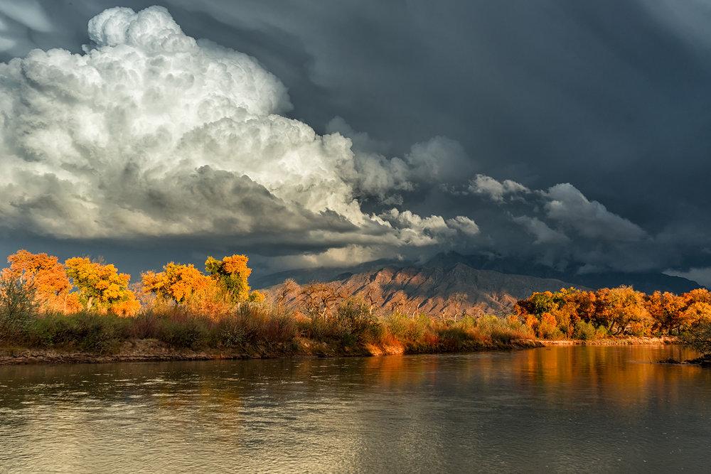 'Autumn Along the Rio Grande' ,   3rd Place Seasons,, Steven Yabek