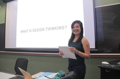 Mika Reyes teaching her Human Centered Design Class in 2015.