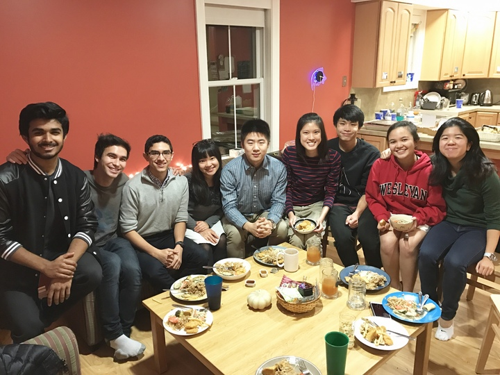 Some members of the Kai team at a team dinner. Missing Alvin, Duong, Vivian, and Marc.