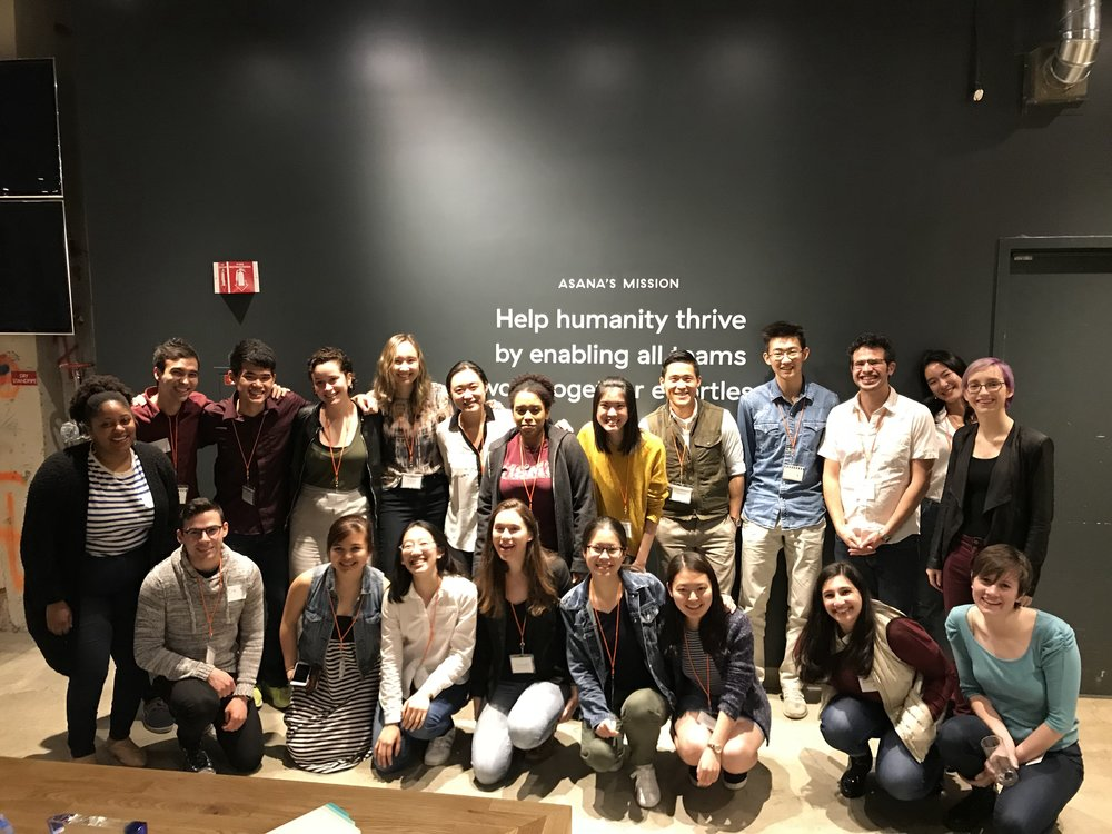 Kai Team with Wes alums and Asana employees in our very own mini-networking event