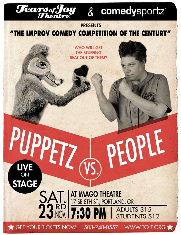 BLE supports this good old fashioned improv battle between the flesh and the fluff.  Come on out to see the stuffing go flying! Facebook invite  HERE .