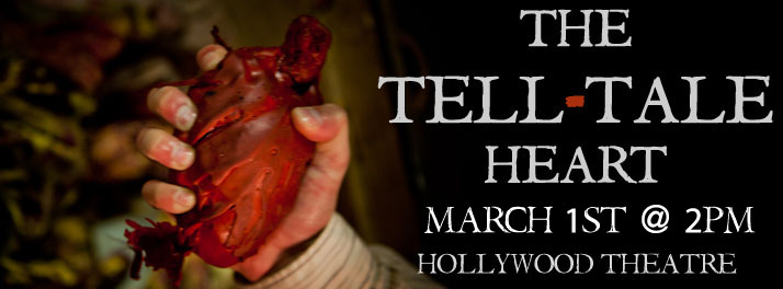 Tears of Joy Theatre explores the depths of sanity, morality and murder…with puppets. ONE SHOW ONLY - MARCH 1st @ 2pm - HOLLYWOOD THEATRE.  More info here. Facebook Invite HERE.