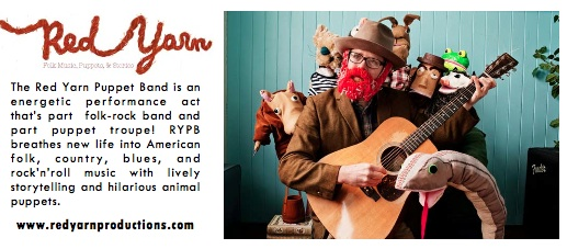 Portland Puppet folk sensation, Andy Ferguson, and his band  The Red Yarn Puppet Band  have a show this Saturday, Sept 17th at the  Slabtown Community Festival . Take the kids and have blast!