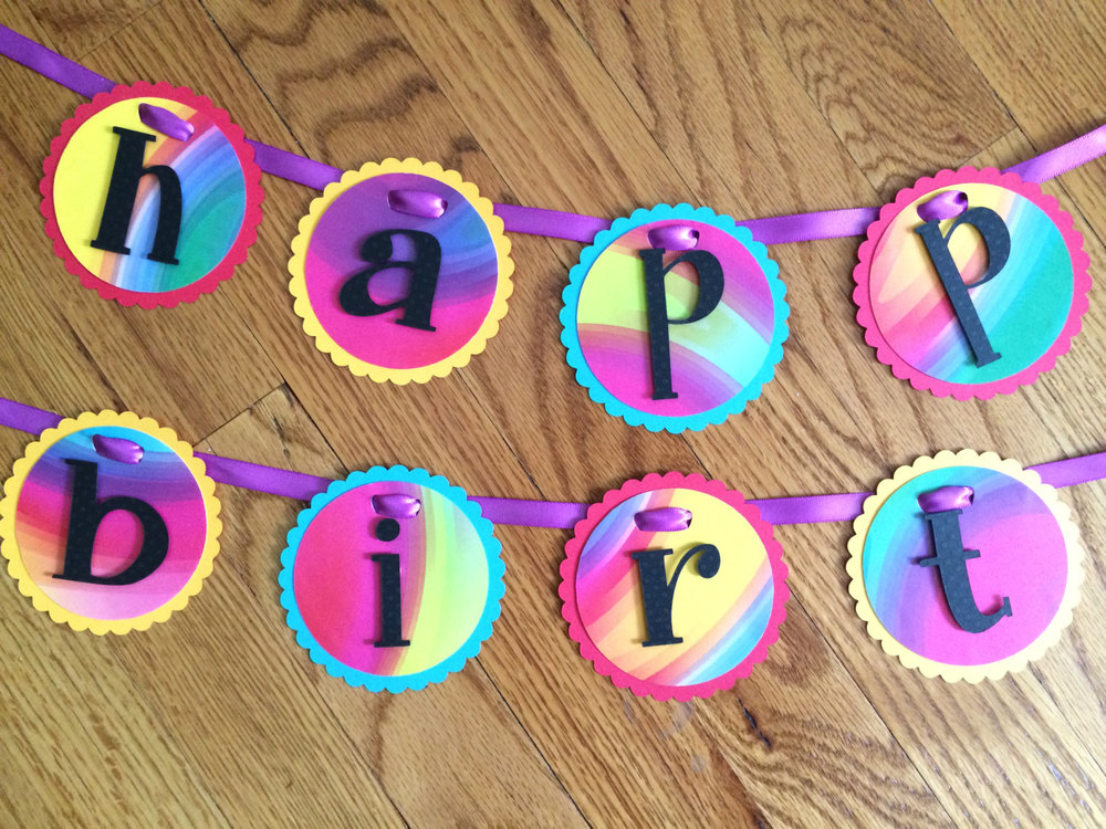 tie dye happy birthday banner purple chloe