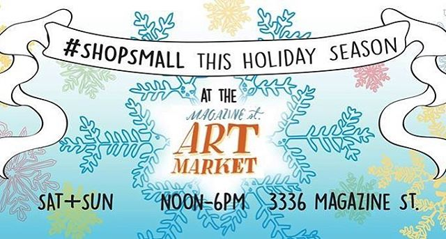 Continue the #shopsmall #smallbusiness trend this holiday season and support local artisans!! FQI and @sawdustnola will be at @magazineartmarket this Saturday and Sunday!