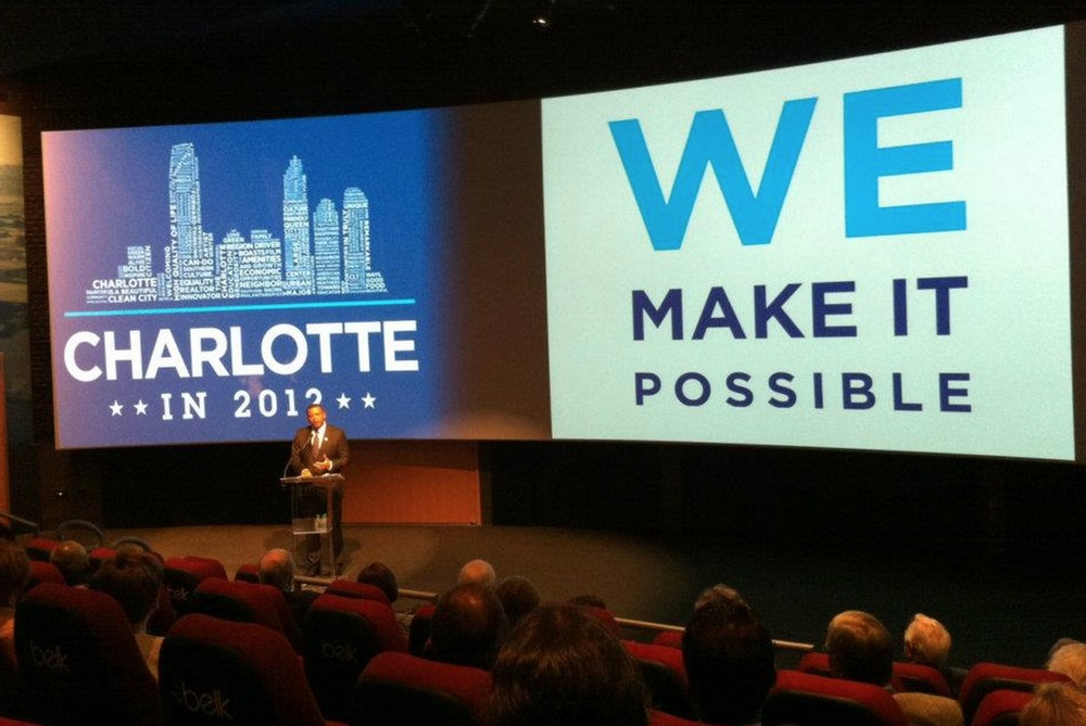 "The ""We Make It Possible"" brand marque and multi-channel, immersive experience  is unveiled to community and convention leaders by Mayor Anthony Foxx."
