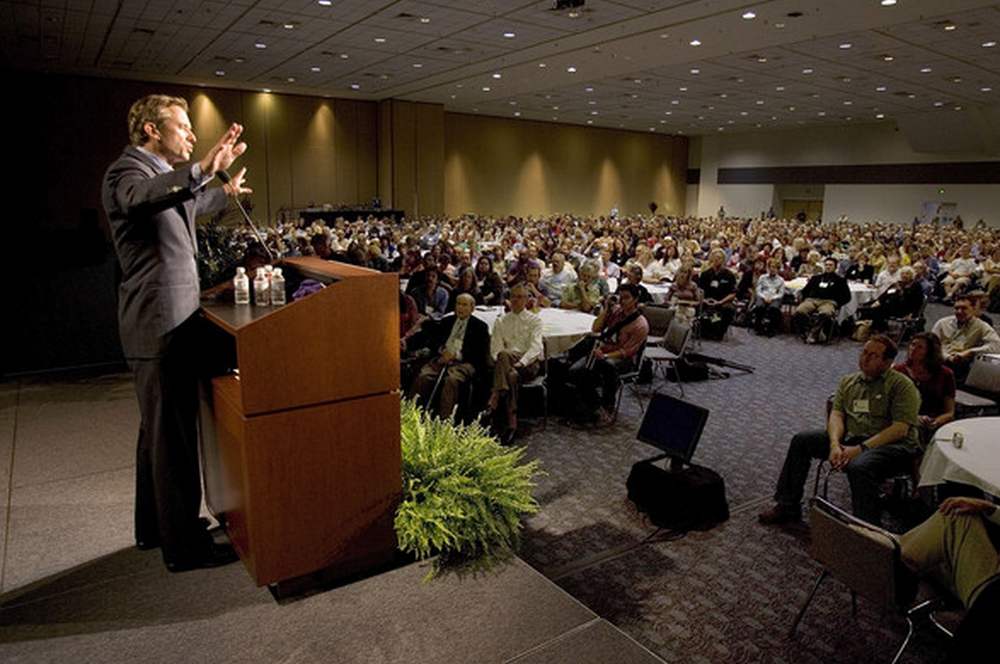 Robert Kennedy, Jr. addresses nearly 1,000 Sierra Club delegates from across the country during the Sierra Summit, the organization's first large gathering of members and leaders in history.