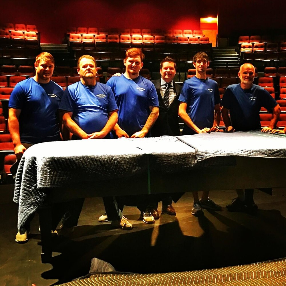 Our Mountain Brook crew has a combined 135 years of moving experience. That's why Birmingham Southern College trust us to move their $100,000 Steinway Piano before and after each performance.