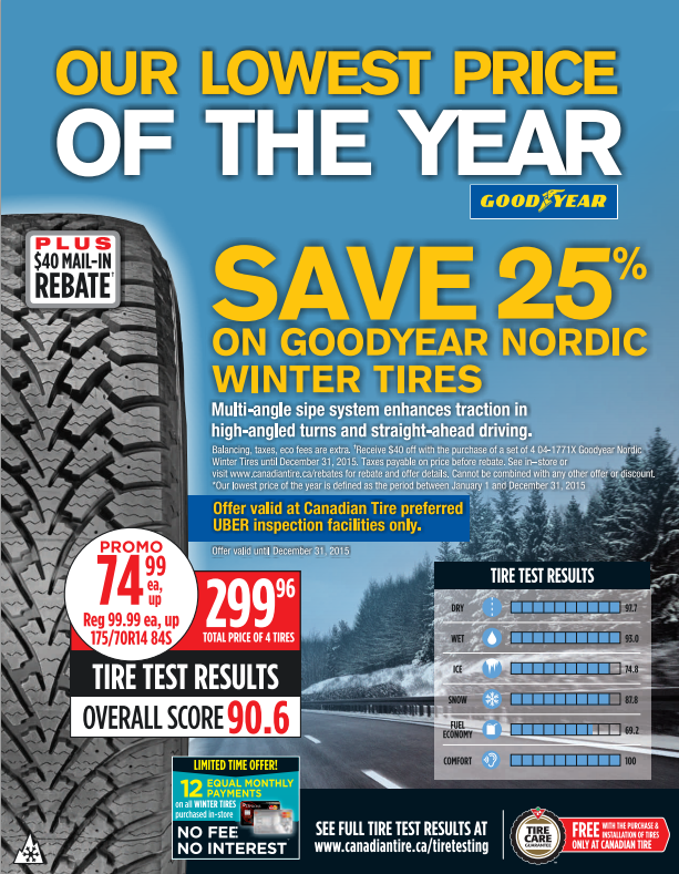 Goodyear Nordic Winter Tire at 25% off!
