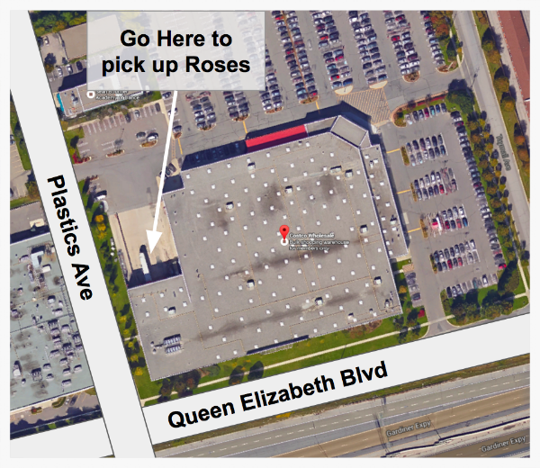 Pick up your roses near the receiving area at Costco Etobicoke, and look for one of our Uber Brand Ambassadors!