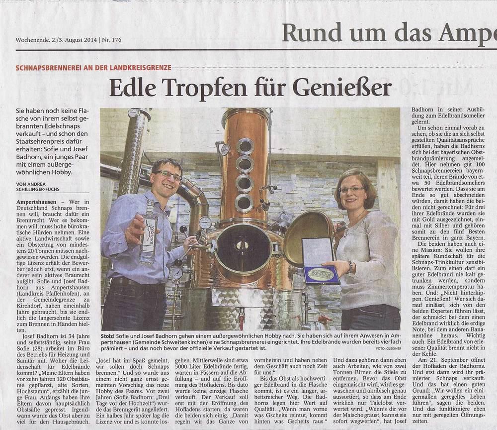 Erschienen im Pfaffenhofener Kurier Nr. 176 vom 2./3. August 2014