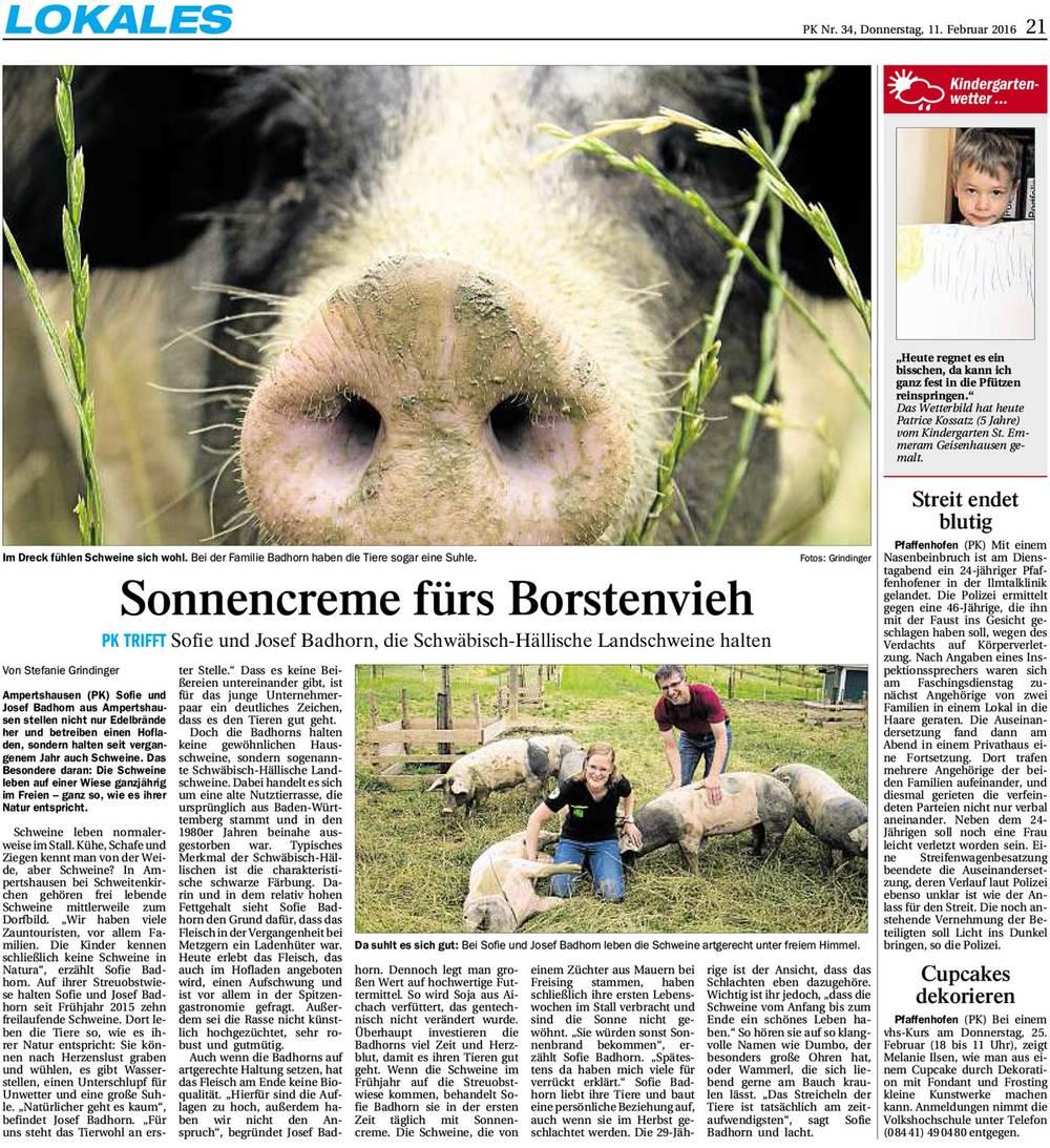 Erschienen im Pfaffenhofener Kurier Nr. 34 vom 11.Februar 2016
