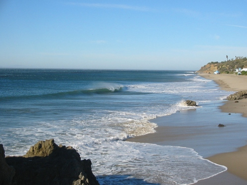 The southern end of Leo Carrillo State Beach