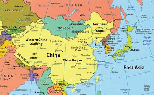 Map Of China With Latitude And Longitude.China History And Geography Dreams N Motion