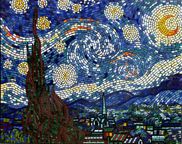 Mosaic dreams 39 n motion for Artwork on tile ceramic mural
