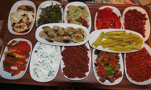 Mezes are mostly cold served.