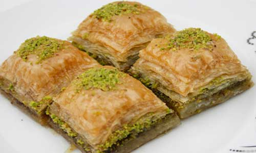Desserts  range from milk based tastes to baklava like pastries.