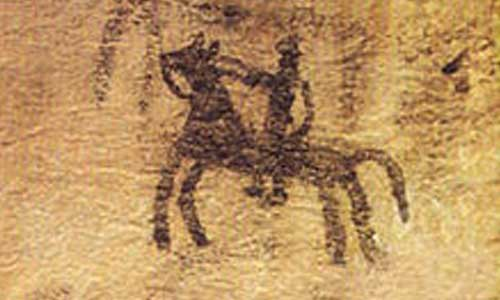 Cave Painting, in Doushe cave, Lorestan, Iran, 8th millennium BC.