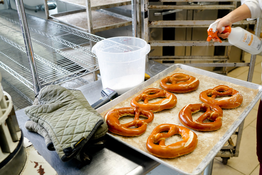 """Germans use pretzels as a regular bread and we don't think of pretzels as a regular bread. So sometimes people are like, 'Oh, you make bread?' and I say, 'Yeah, pretzels.' - Alexis Faraci, founder and owner of the Bronx Baking Co."