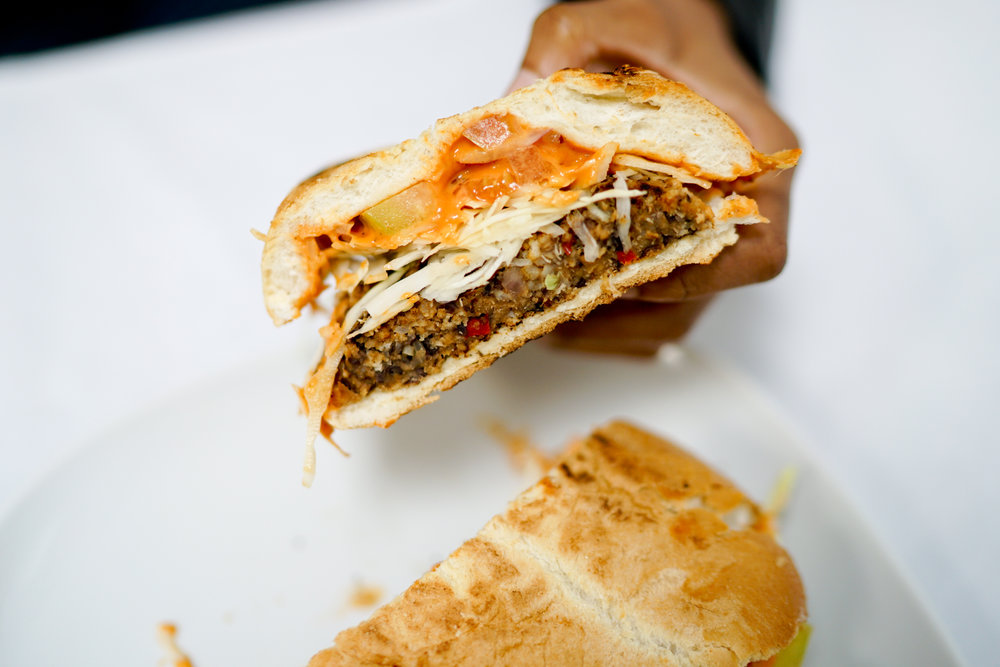 The Vegan Chimi Burger