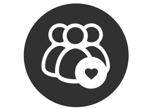 Volunteer with MetaSport logo black and white