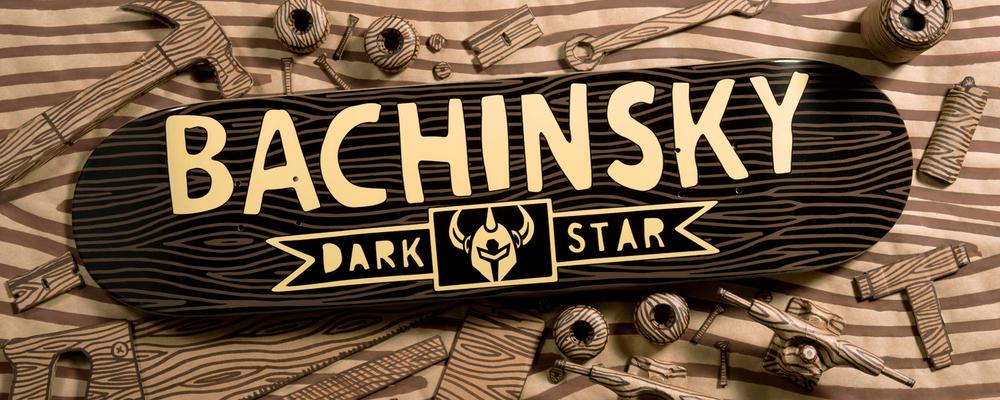 Darkstar Skateboards Dave Bachinsky Pro woodblock deck