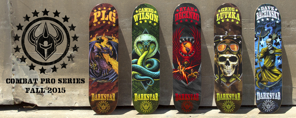 Darkstar Skateboards Combat Pro Series PLG Wilson Decenzo Lutzka Bachinsky