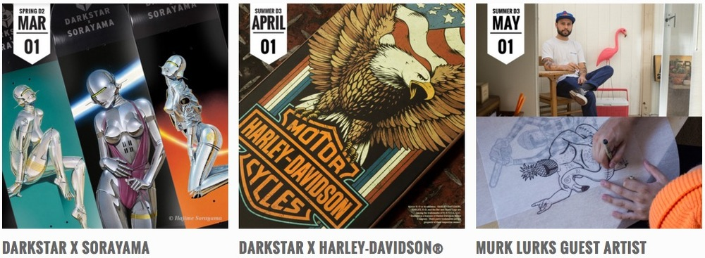 Darkstar Skateboards Launch Calendar
