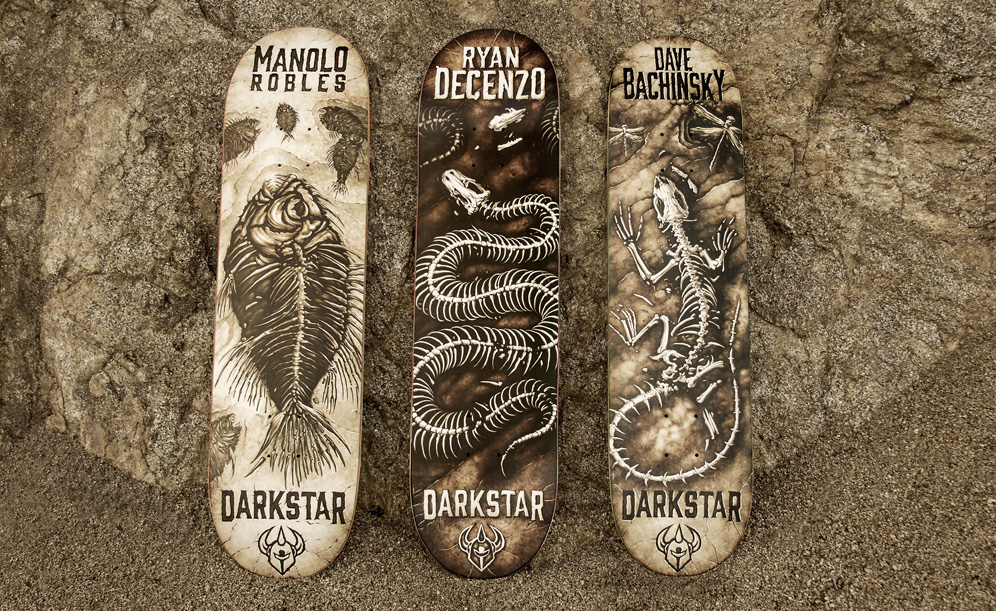 FOSSIL PRO SERIES darkstar skateboards