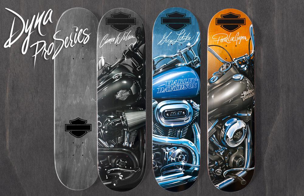 1-DARKSTARXHARLEY_DYNA_MAIN Skatebaord Decks
