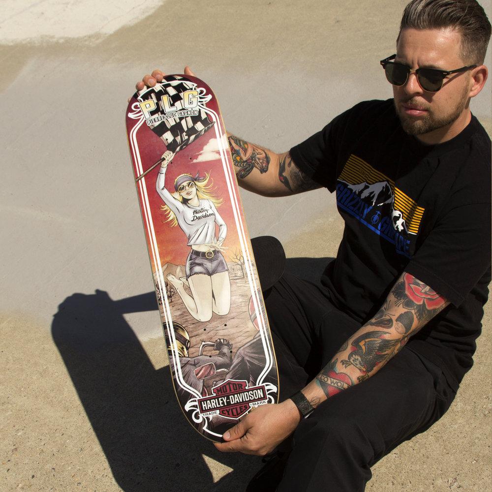 Darkstar skateboards harley davidson PLG deck