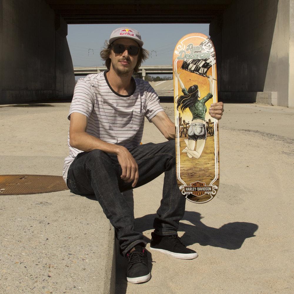 Darkstar skateboards harley davidson ryan decenzo deck